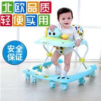 宝宝婴儿童学步车67-18个月多功能防侧翻手推车带音乐脚步车