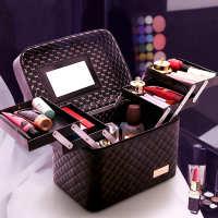 大容量化妆包女便携多功能手提化妆品收纳盒ins风箱2020新款超火