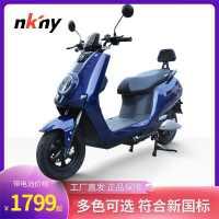 外卖电动摩托车60V72V小型电瓶车男女电摩高速双人代步踏板长跑王