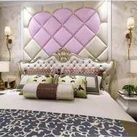 床头软包背景墙异形软包卧室背景墙简欧电视背景造型墙佛山定制