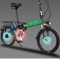 新国标3C折叠电动自行车超轻便携锂电变速小型代步车电单车助力车
