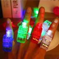 手指灯发光戒指灯手指投影激光灯彩色炫彩LED酒吧舞会演出玩具