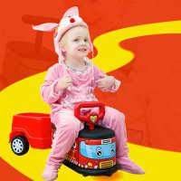 巧可粒韩式室内静音万向轮扭扭车1-6岁宝宝滑行车溜溜车儿童玩具