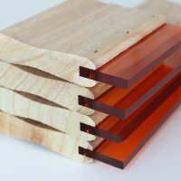 丝印刮刀水油性木柄刮胶油墨刮条耐磨手工丝网胶条丝印刮板