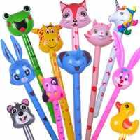 VC儿童玩具动物头长棒充气球棒微商地推礼品道具活动气球