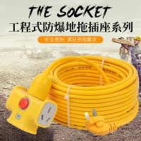 加长线电瓶车插座电动车充电源延长线超长接线板带10/20/30米排插