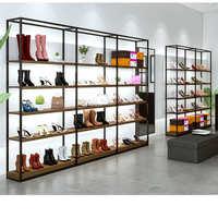 展柜定做商场展示柜定制铁木烤漆柜男女鞋包展柜陈列柜箱包货柜台