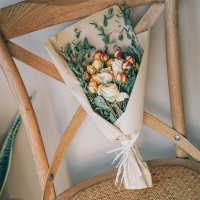 尤加利玫瑰蔷薇干花花束森系简约挂件天然摄影拍照道具生日礼物