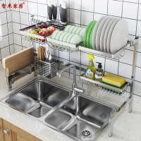 现货水槽沥水架放碗碟架304不锈钢厨房置物架厨具餐具用品收纳架