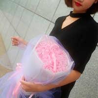 新玫瑰送情人节肥皂女友创意老妈新款礼盒花束生日礼品七夕闺蜜香