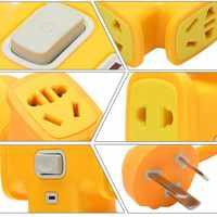 加长防摔电动车充电插座插排接线板插线板插板2/3/5/10米线排插