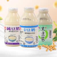 批发台湾进口正康低糖纯豆奶330ml塑料瓶早餐黑豆浆植物蛋白饮品