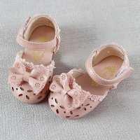 女宝宝公主单鞋0-1-2-3岁小女孩半凉鞋春夏季一周岁半女童学步鞋