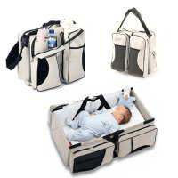 婴儿旅行折叠床单肩妈咪包手提便携式母婴包多功能蚊帐婴儿床中床