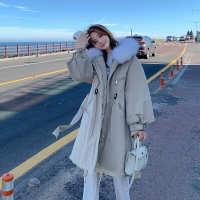 2020秋冬棉服中长新款女韩版羽绒款纯色收腰派拉链风衣棉衣外套潮