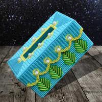 包邮毛线绣立体十字绣新款客厅已剪裁纸巾盒抽纸盒材料包套件