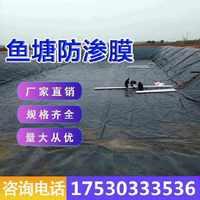 的鱼塘防渗膜加厚土工膜黑色塑料膜地膜防漏水池塘防水布鱼池