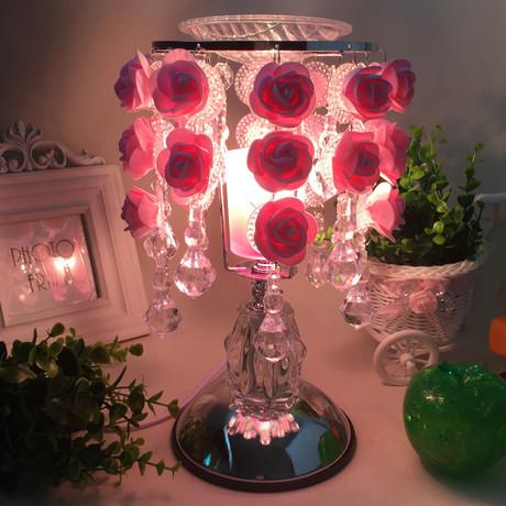 玫瑰花精油香薰灯插电女生闺蜜浪漫生日礼物熏香机台灯实用七夕节