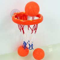宝宝洗澡玩具儿童戏水投篮篮球架室内小篮球框投篮玩具男孩女孩