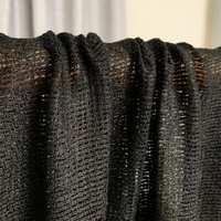 七彩之韵25姆米编织纱丝棉黑色清仓布料夏季女装连衣裙服装面料