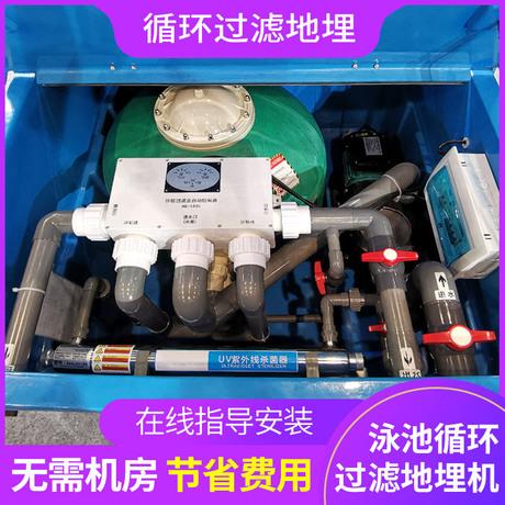 游泳池循环过滤设备沙缸水泵地埋一体机景观池泳池水处理净化器