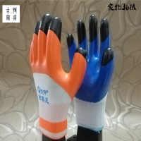 (包邮12双丁青手套)劳保工作耐磨防水塑胶橡胶胶皮单左右手手套
