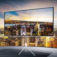 白塑玻纤灰玻纤便携式支架幕布高清家用办公投影机60-120寸寸屏幕