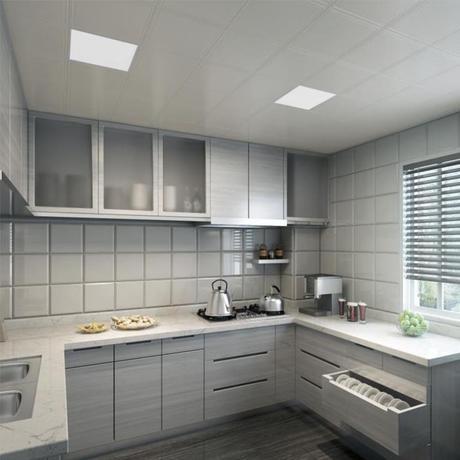 集成吊顶30*30厨房卫生间铝吊扣,大厅餐厅45*45二级板顶铝扣板..