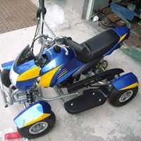 迷你四轮越野汽油摩托车赛车沙滩车49CC二冲发动机儿童成人玩具车