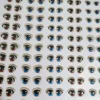 diy卡通水晶眼钩针玩偶布艺娃娃粘土不织布手工动漫眼睛滴胶贴片
