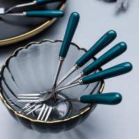 水果叉套装家用创意可爱北欧不锈钢插水果的小叉叉蛋糕陶瓷叉子