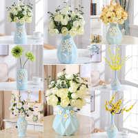 现代简约客厅餐桌创意插花小摆件家居装饰品陶瓷干花花瓶花艺摆设