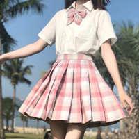 树莓红茶jk制服裙正版格裙套装全套少女童儿童学生学院风百褶日系