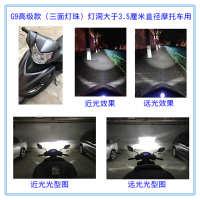 海5双光飞度H4摩托车改装透镜uy125福喜威驰uu125带h7单支装led支
