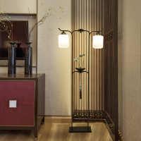 现代中式 客厅 灯床落地灯铁艺禅意