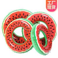 义乌工厂充气水果西瓜游泳圈PVC成人游泳圈卡通泳圈救生圈定制