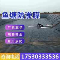 的土工膜防渗膜鱼池鱼塘防水膜养殖膜藕池防渗黑色塑料薄膜