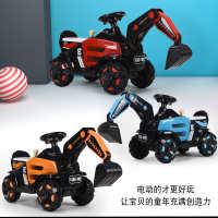 欧信挖掘机大号挖土机可坐可骑电动挖机宝宝儿童电动挖掘机