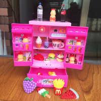 儿童过家家仿真小厨房玩具迷你小家电冰箱女孩玩具做饭套装双开门