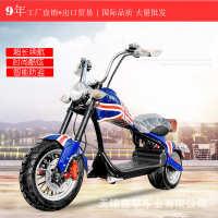 出口外贸哈雷摩托车电动车智能哈雷酷跑机车踏板电瓶车成人