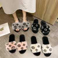 2020秋冬新款居家拖鞋女韩版少女木地板保暖棉拖鞋卡通毛毛鞋