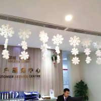 圣诞节装饰礼品酒店商场吊顶装饰雪花八杆平面立体雪花片节日挂件