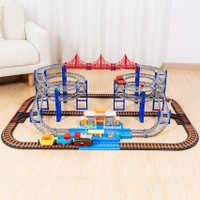 托马斯小火车套装轨道警察汽车加油站过山车男孩子儿童玩具车