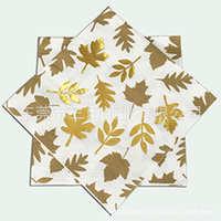 烫金纸巾,印刷烫金餐巾,多色烫金纸巾