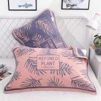 纯棉高档枕巾纱布一对装防螨抗菌四层加厚卡通情侣网红帎整枕头巾