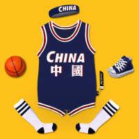 婴儿篮球服男女宝宝篮球服连体哈衣球衣包屁衣服夏装短袖薄款纯棉