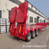 13米低平板运输车报价低板大件挂车低平板运输半挂车公司