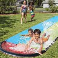 跨境滑水道单人儿童滑水道双人滑水道户外用品PVC充气戏水玩具