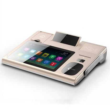 药店医院桌面式身份证阅读器人脸识别条码扫描银行社保刷卡一体机