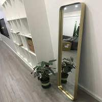 北京上海不锈钢金属弧形镜框展厅玫瑰金异形框定制钛金不锈钢镜框